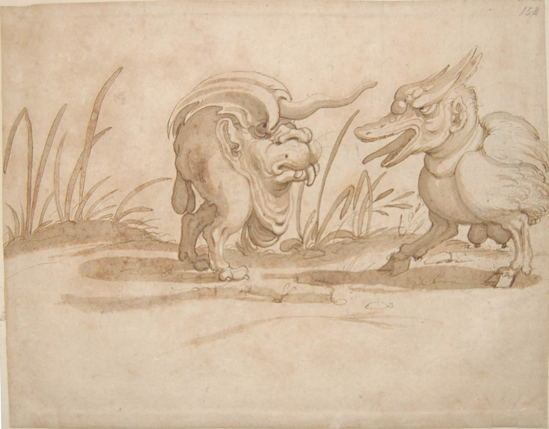 Arent van Bolten - Monster 153, from collection of 425 drawings, 1588-1633