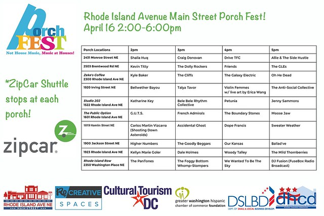 Porch Fest 2016 Schedule