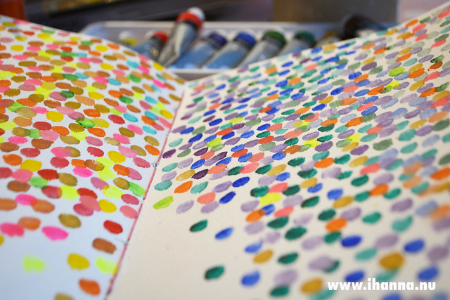 Art Journal Polka Dot Peek - an art journal prompt by @iHanna