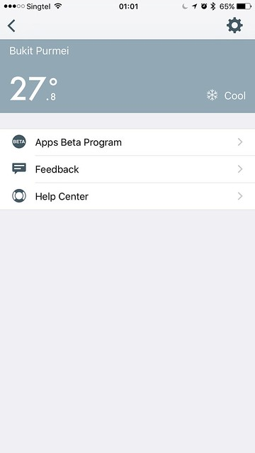 tado iOS App - Settings