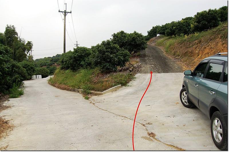 鳳梨山圖根點停車處