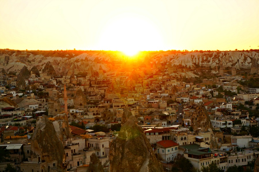 Sunset in Goreme Turkey
