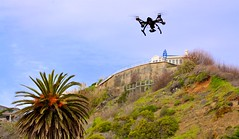 Drone and the beach house