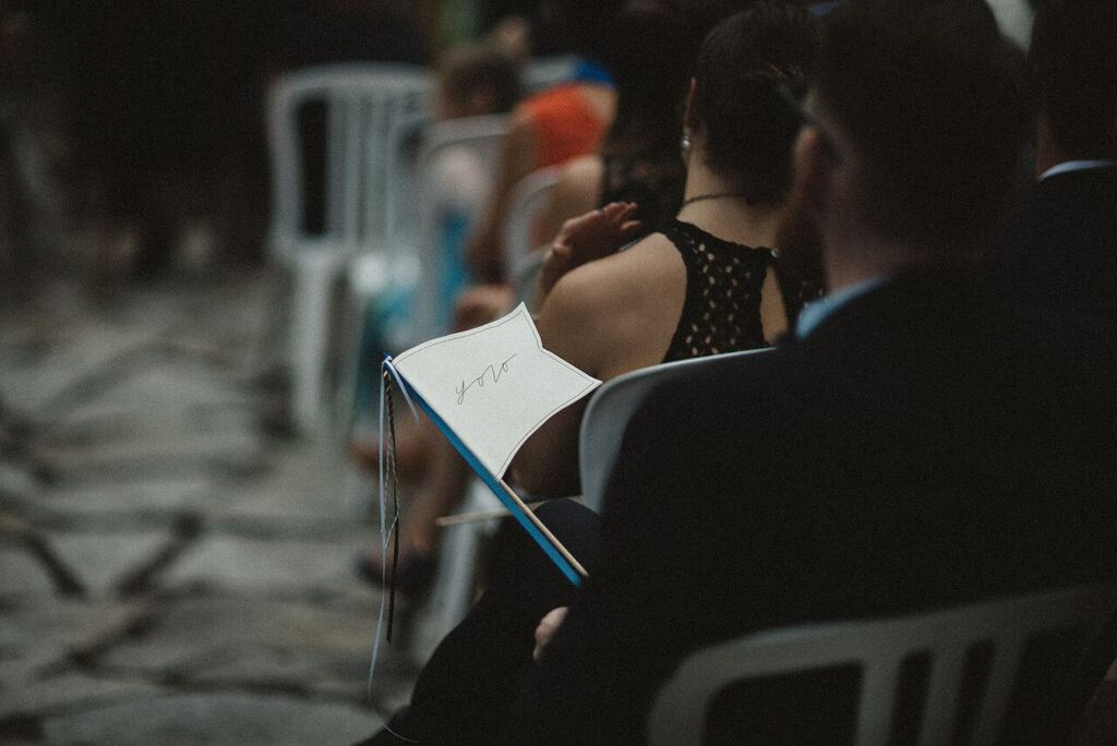 Wedding in Montreal - Midnight blue, black, gold, neon accents Summer Wedding | fabmood.com