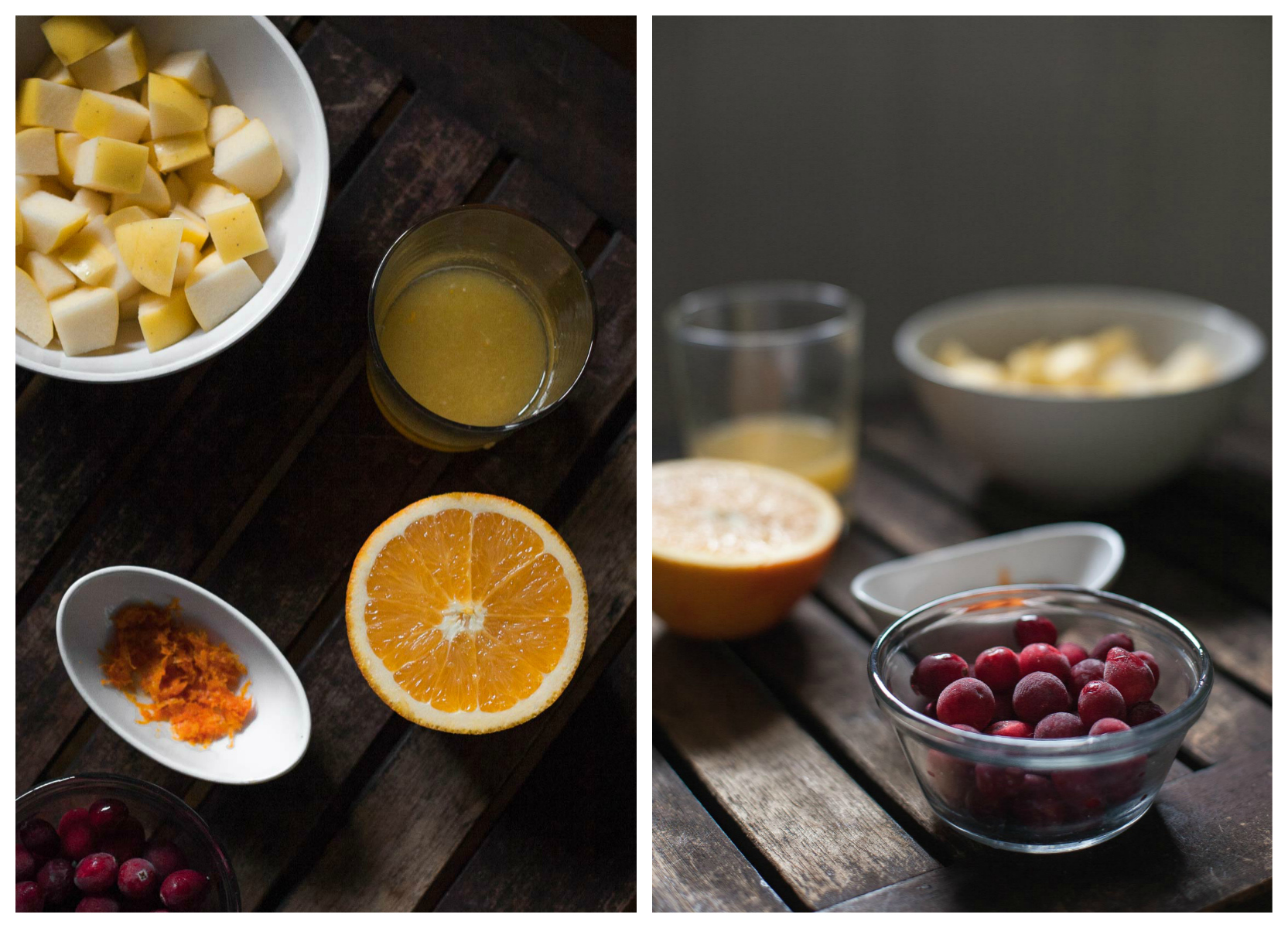 Ingredients for Cranberry-Apple Compote (Paleo, Whole30) | acalculatedwhisk.com