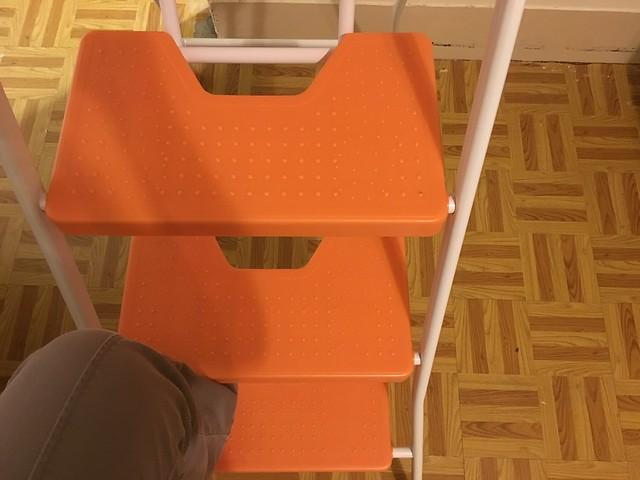 我最喜歡的一點:整隻腳可以踏滿!@TRENY五階工作梯