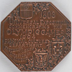 St. Louis 1904 Summer Olympics Participation Medal reverse