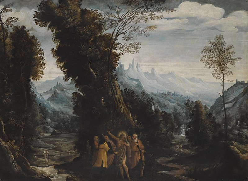 Giovanni Andrea Donducci - Landscape with John the Baptist Preaching in the Wilderness