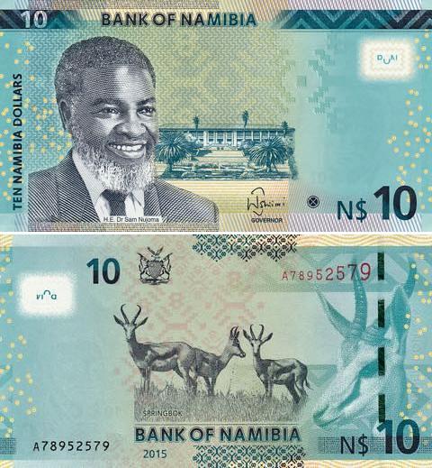 10 Dolárov Namíbia 2015
