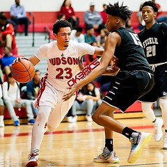 Judson's Jarehn White (23) drives past Steele's Gerald Liddell (15) during a boys basketball game. #ok3pics #ok3 #sportsphotography #nikonphotography