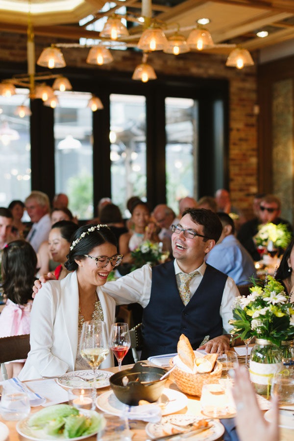 Celine Kim Photography KM Intimate restaurant Cluny Bistro Distillery District Toronto summer wedding-63