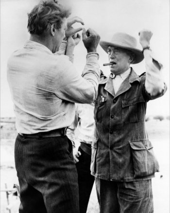 The Unforgiven - Backstage - Burt Lancaster and John Huston