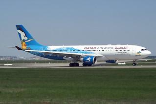 """Qatar Airways Airbus A330-202 A7-ACI """" 2006 Asian Games"""" livery"""
