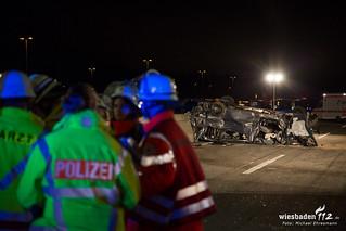 Schwerer Verkehrsunfall A5 Gräfenhausen 21.02.16