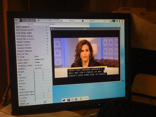 I am watching TV on Power Mac G3 in Linux