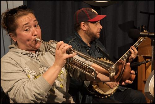 Shotgun Jazz Band at WWOZ 2016 Spring Pledge Drive. Photo by Ryan Hodgson-Rigsbee www.rhrphoto.com