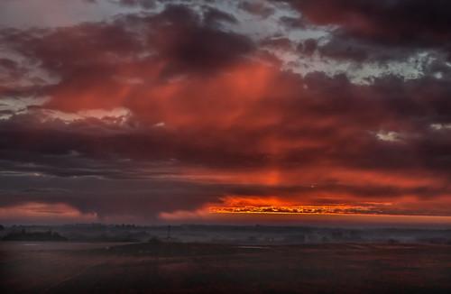 sky sunrise dawn alberta snowshower strathconacounty springtimeinalberta canonefs18135