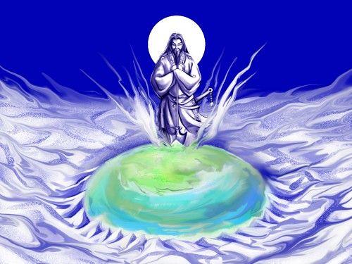 A lenda da criação do mundo e Izanagi e Izanami