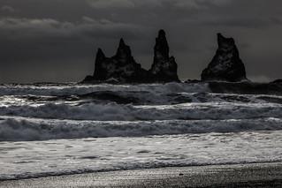Atlantic Ocean and Reynisdrangar