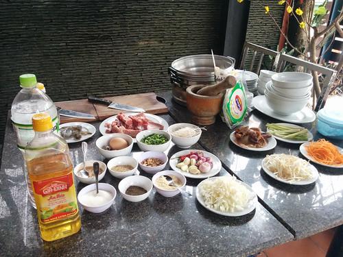 cooking class prep @ Kangaroo Hue