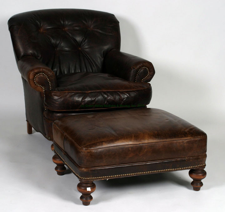 Old Hickory Tannery Brown Chair $2090.00 - 9/11/15 & September 11 2015 Auction Highlights - Green Valley Auctions