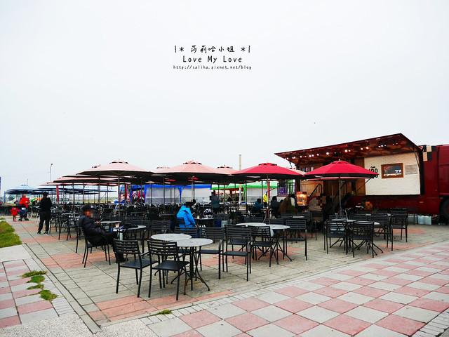 新竹一日遊景點推薦南寮漁港17公里海岸線咖啡車
