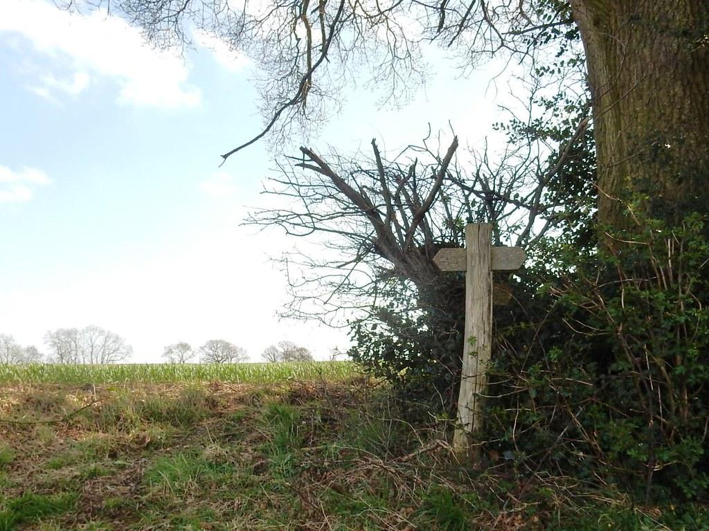 Quaint sign post Ashurst to Eridge