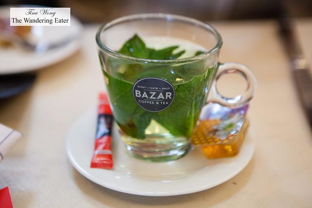 Fantastic fresh Spanish mint tea