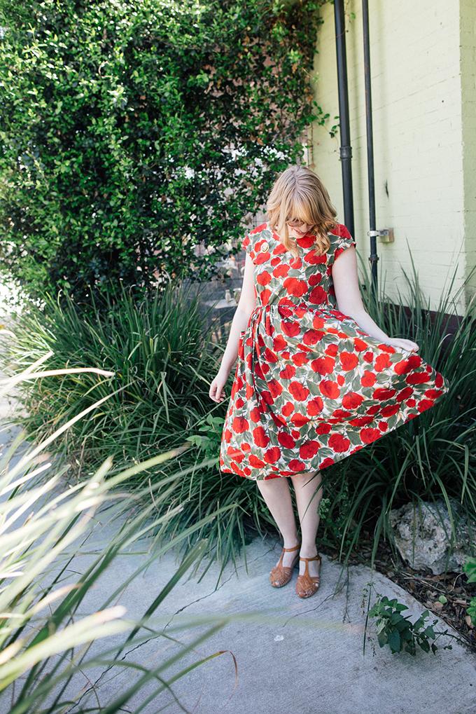vintage poppy dress5