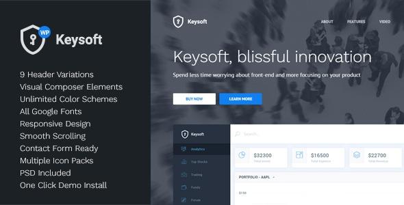 KeySoft v1.0 - WordPress Software Landing Page