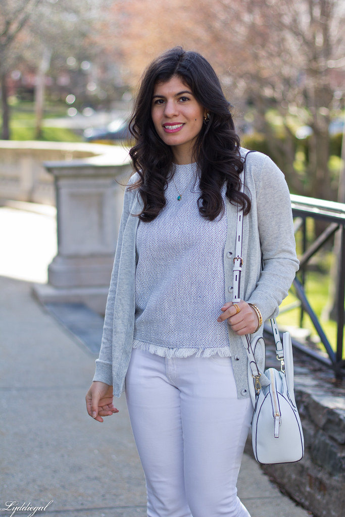 white jeans, grey cardigan, nude lace up flats-4.jpg