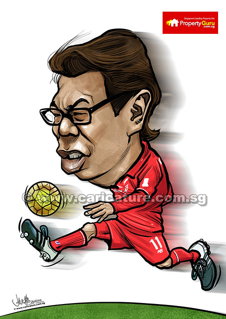 Koh Liverpool soccer caricature for PropertyGuru (watermarked)