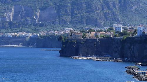 travel blue italy cliff mountain seascape water lumix mediterranean napoli sorrento gulfofnaples fz1000
