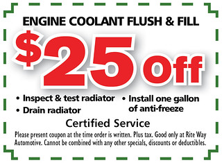 5- Engine Coolant Flush and Fill - Rite Way Spring AD5