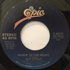 SLY STONE:DANCE TO THE MUSIC(LABEL SIDE-A)