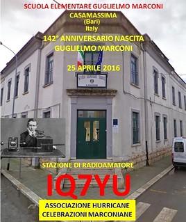 Cartolina della stazione radio IQ7YU