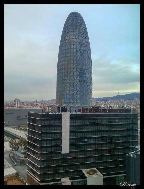 Fotografías Torre Agbar Barcelona - Torre Agbar desde hotel Novotel