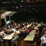 Festsaal im Gemeindezentrum St. Peter und Paul, Stammlokal vieler Veranstaltungen der Karlsruher aus dem Banat