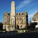 Preston Cenotaph With The Former Preston Post Office Behind