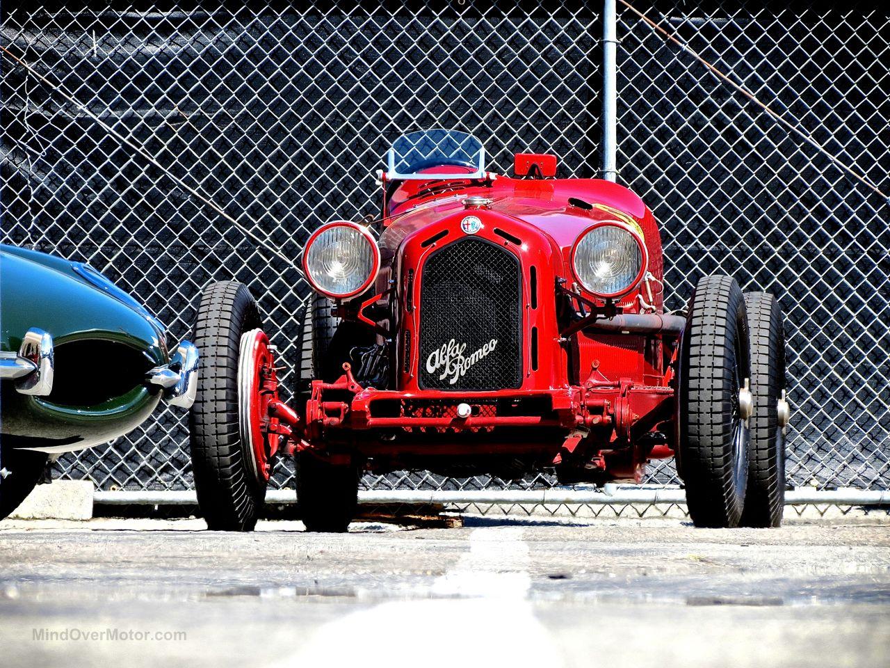 Alfa Romeo 8C Monza Laguna Seca Paddock