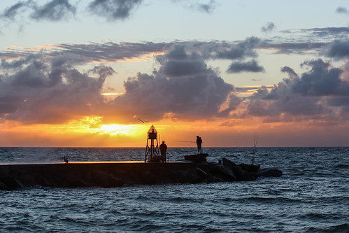 travel sea usa water sunrise fishing florida miami
