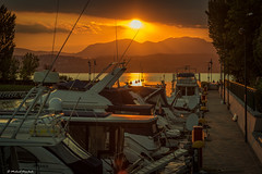 Sonnenuntergang am Gardasee - Sunset at lake garda