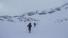 Podejście we mgle na przełęcz Hauslabjoch (3283m)