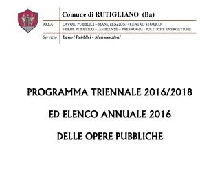 opere pubbliche 2016 programma rutigliano