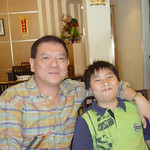 Vincent and Chun having fun