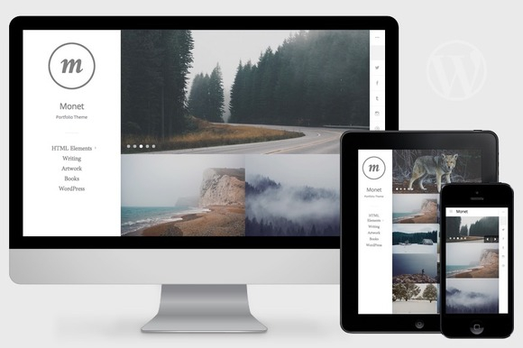 Monet v1.0 – WordPress Portfolio Theme