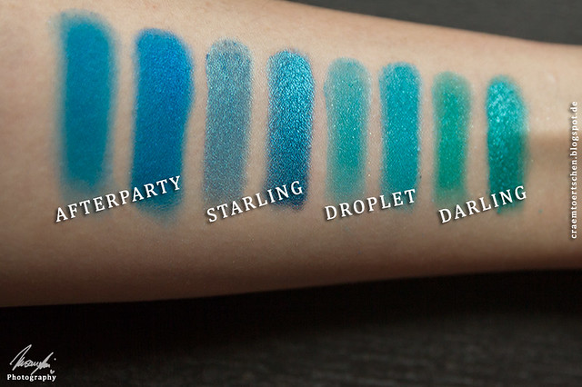 Mittelblaue Swatches