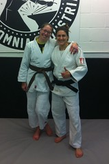 Me and Sophie - brown belt grading