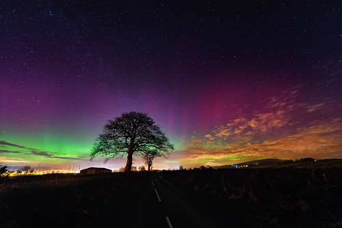 Northern Lights over Strabane (Mothers Day Aurora)