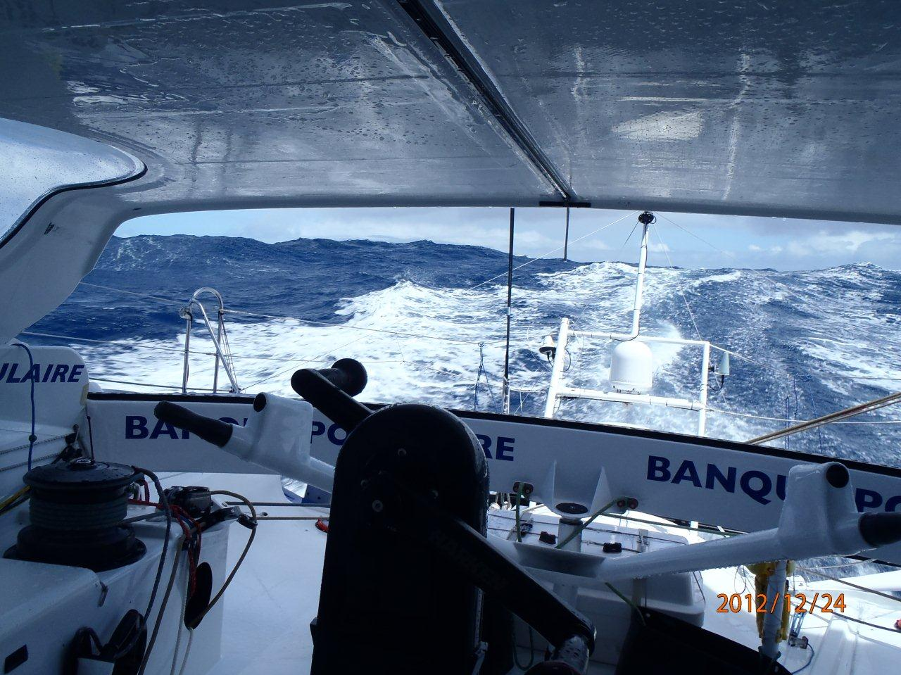 Photos envoyées du bord 24-11-12 - Océan Pacifique - Veille de Noël / BPCE